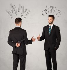 Ruthless business handshake