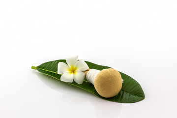 Spa herbal compressing ball and plumeria .