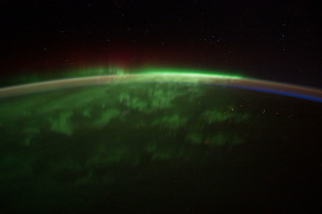 View of planet Earth from Space. Images provided by NASA