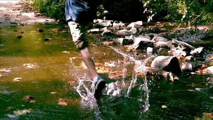 run through puddles