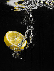 fetta di limone splash