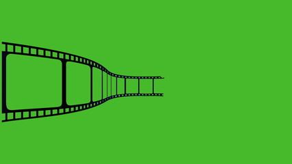 animation film green screen background.
