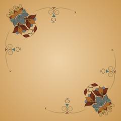 Elegant Card With Decorative Flowers