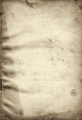 extra large old monochrome wrinkled paper background