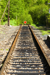 sections of the railway track, Czech Republic