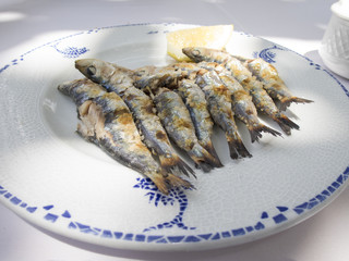 ready espeto sardine dish