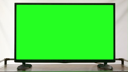 Modern HDTV With Green Screen
