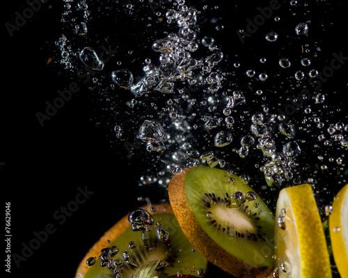 canvas print picture Zitrone und Kiwi