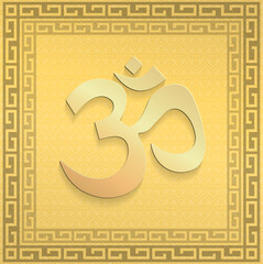 illustration: a golden symbol of OM
