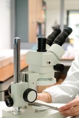 Microscopio, fuoco selettivo