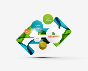 Abstract step infographics business layout