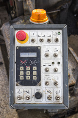 control panel of asphalt paving machine