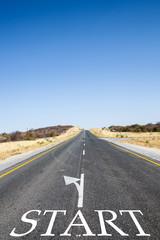 Strada dritta in partenza