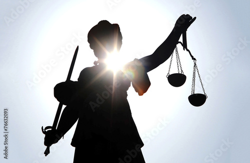 Foto op Plexiglas Standbeeld Gerechtigkeitsgöttin