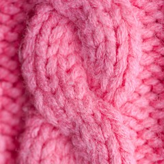 Knitted clothes closeup