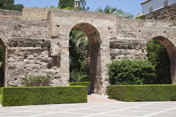 Garden of Alcazar palace
