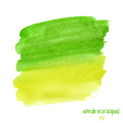 green and yellow watercolor stain