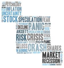 stock crash panic word cloud