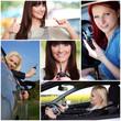 Collage Auto fahren
