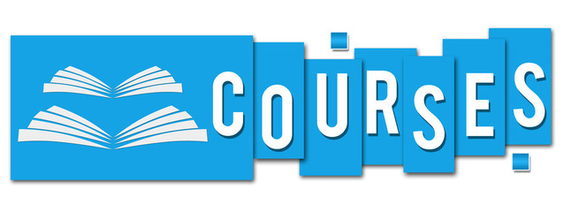 Courses Blue Stripes Book Icon