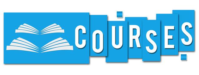 Courses Blue Stripes Book Icon