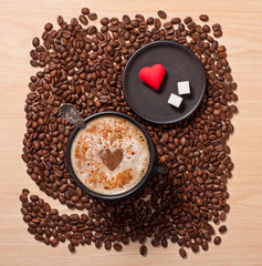 coffee cup and heart