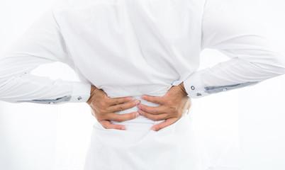 Businessman backache isolate