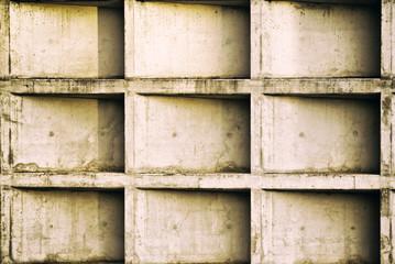 Muro de hormigón sucio