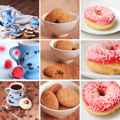 Set of bakery