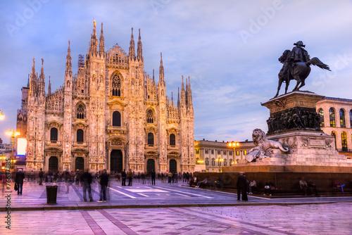 obraz PCV Duomo w Mediolanie, we Włoszech.
