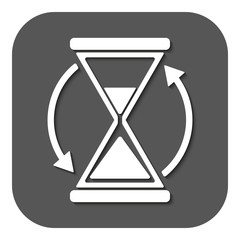 The hourglass icon. Clock symbol.