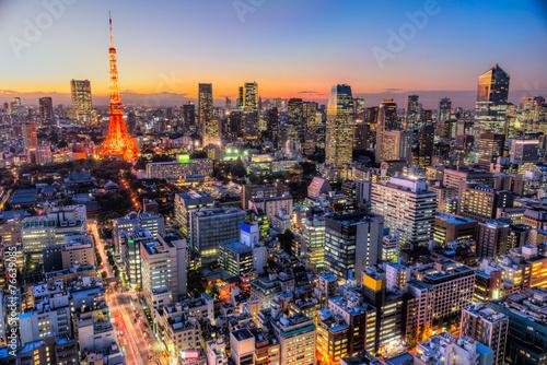 Foto op Aluminium Stad gebouw Tokyo, Japan.