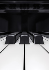 Piano keys closeup