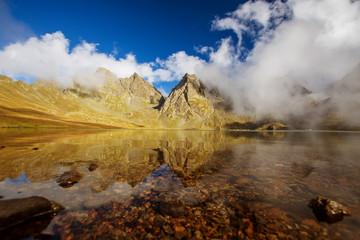 Beautiful lake in Georgia mountains