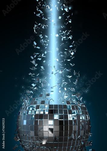 canvas print picture Disco explosion