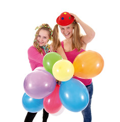 Fasching – zwei Teenager