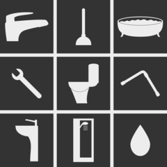 Sanitary engineering Icons