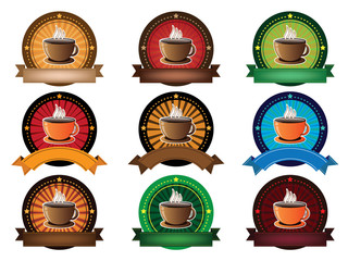 coffee cup banner set