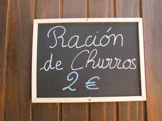 churros ration in blackboard