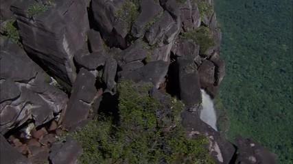 Mountains Waterfall Boulders Canyon