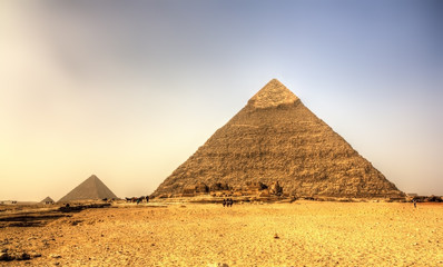 Pyramid of Khafre (Pyramid of Chephren) in Giza - Egypt