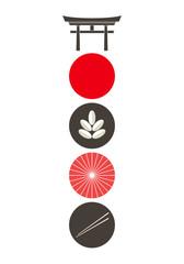 Japan. Icon set