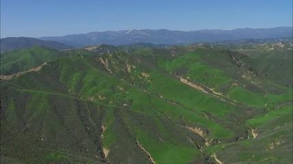 California Hills Valleys Green