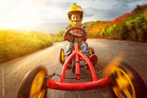 Happy Child on a Go-Kart