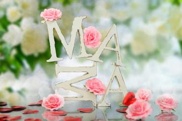 MAMA-Hintergrund Blüten