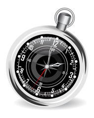Vector illustration of the clock