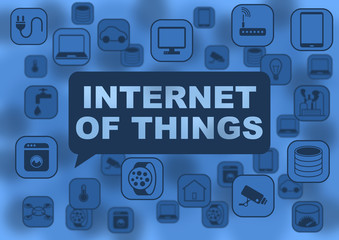 Internet of things illustration with various objects