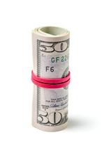 Geldbündel aus Dollarscheinen