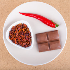 Chili peppers and chocolate
