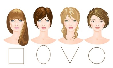 Set of different woman's faces. Vector